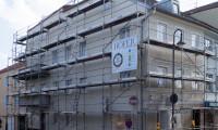 Das Eckhaus zur Judengasse während der Renovierung